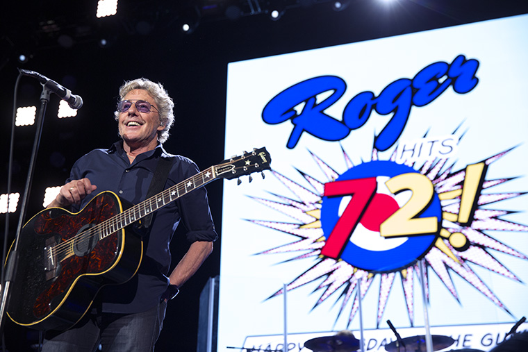 "Roger Daltrey enjoys the applause while Pete Townshend talks about it being ""Justin Beiber's birthday!"" The Who Perform at Air Canada Arena in Toronto, Ontario Canada. March 1, 2016. It is also Roger Daltrey's 72 birthday."