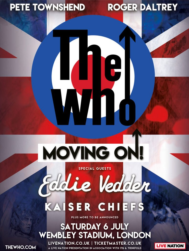 The Who announce Moving On! show at Wembley Stadium for July 2019