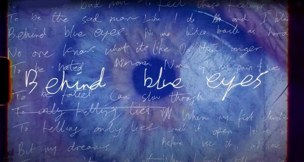 The Who 'Behind Blue Eyes' with lyrics